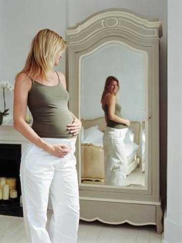 Беременность: когда начинает расти живот? На каком месяце беременности виден живот?