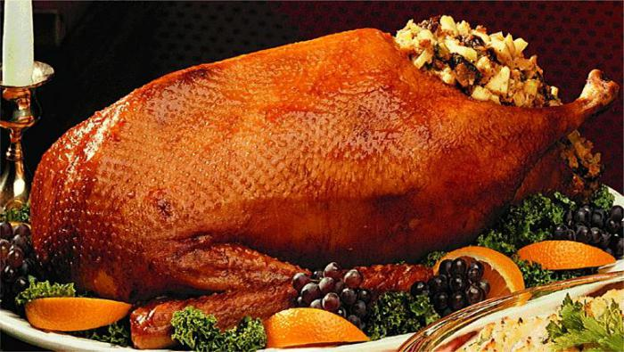 stuffed goose with apples