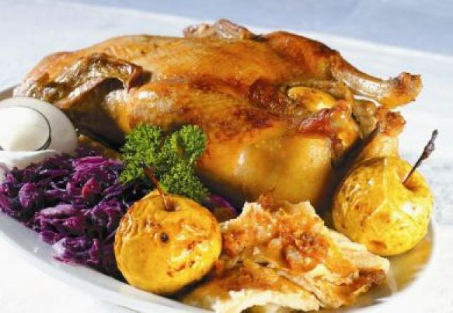 baked goose with apples recipe