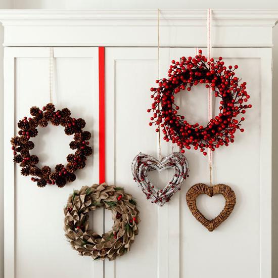 Венки новогодние на дверь