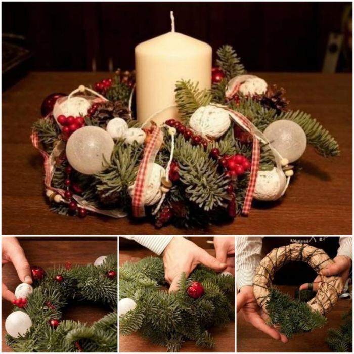 Венки новогодние на дверь. Новогодние венки своими руками :: SYL.ru