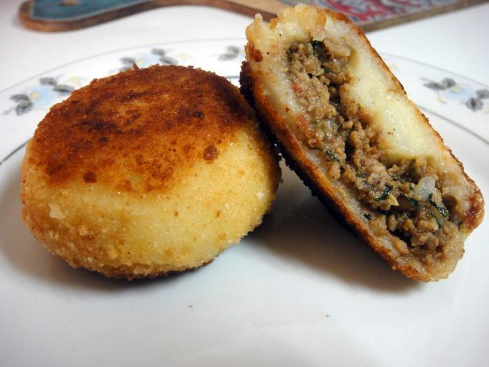 Рецепт картофельных котлет с фаршем
