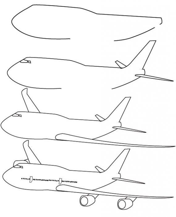 Картинка самолетов как рисовать самолеты