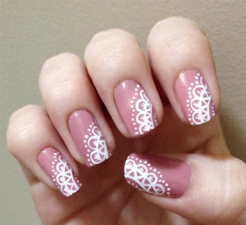 Нарисовать на ногтях кружево