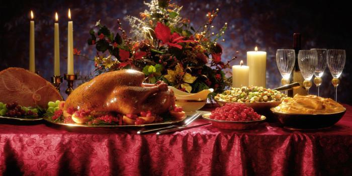 Festive menu of the New Year.
