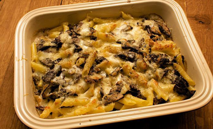 грибы свинина картошка в духовке рецепт