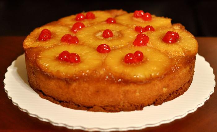 Пирог творожный с консервированными ананасами рецепт с