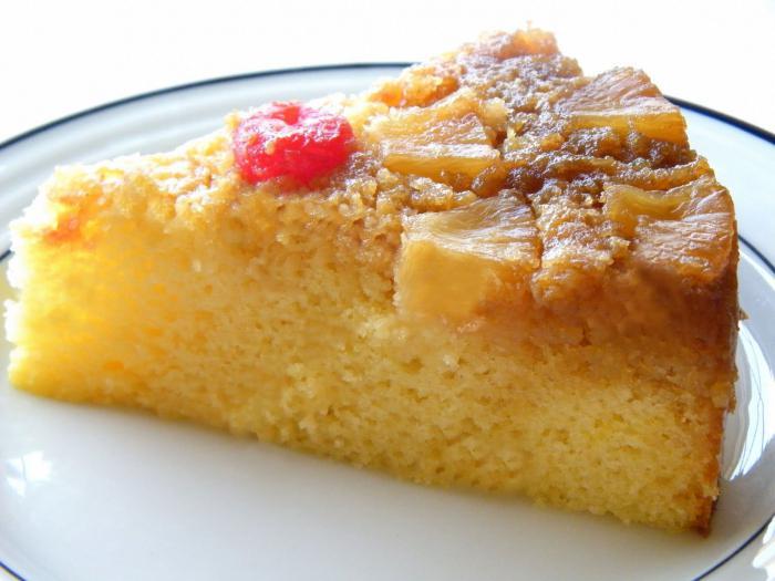 засмущался ананасовый пирог рецепт с фото разведите муку