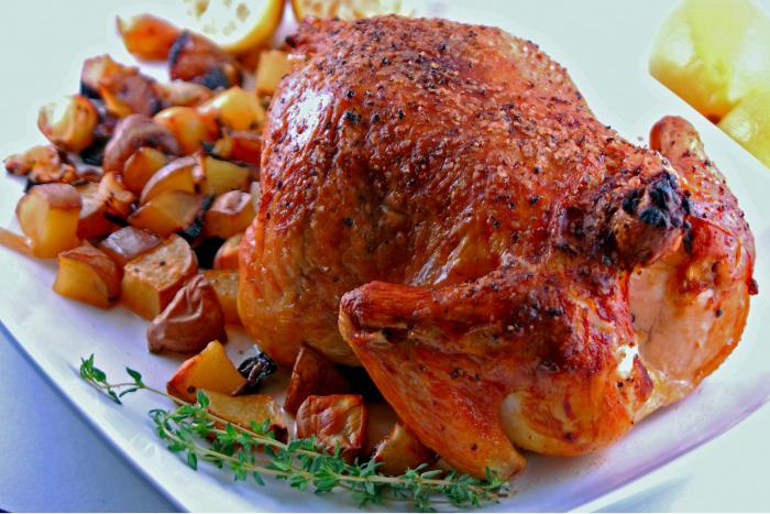 roast chicken recipe in the oven