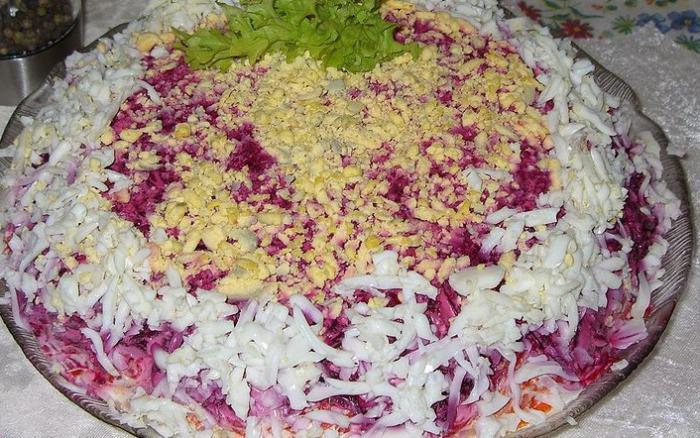 Салат песцовая шубка рецепт с фото пошагово