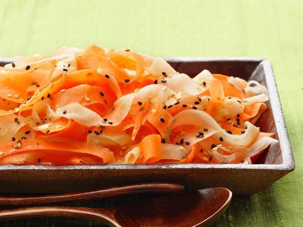 Daikon and carrot salad.