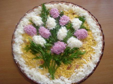 украшения салатов с фотографиями