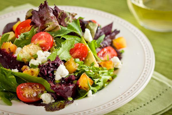 salad with cheese dressing