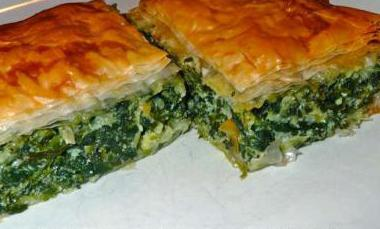 spinach and cheese cake