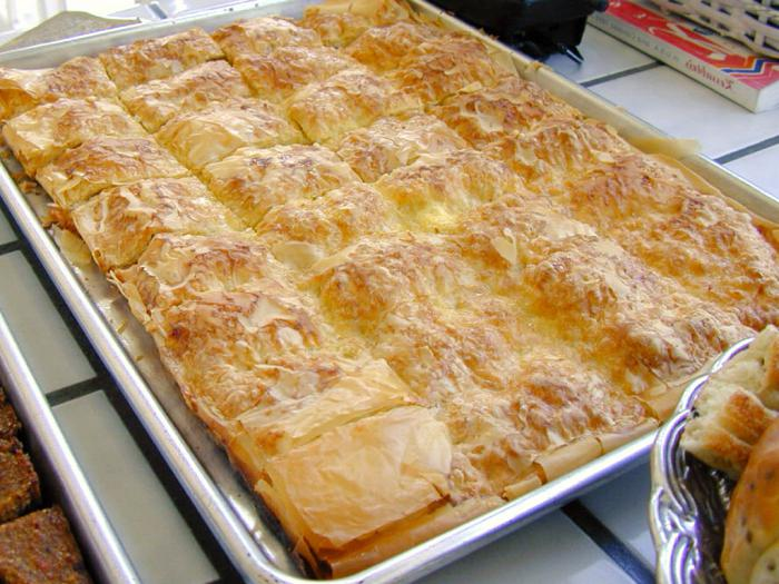 curd tart and spinach pie