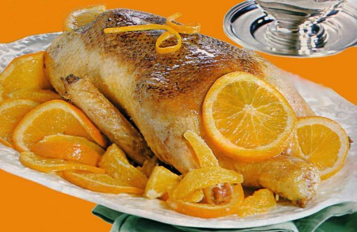 Утка в духовке с медом и апельсином