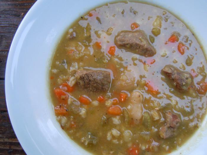 рецепт горохового супа с мясом пошаговый рецепт