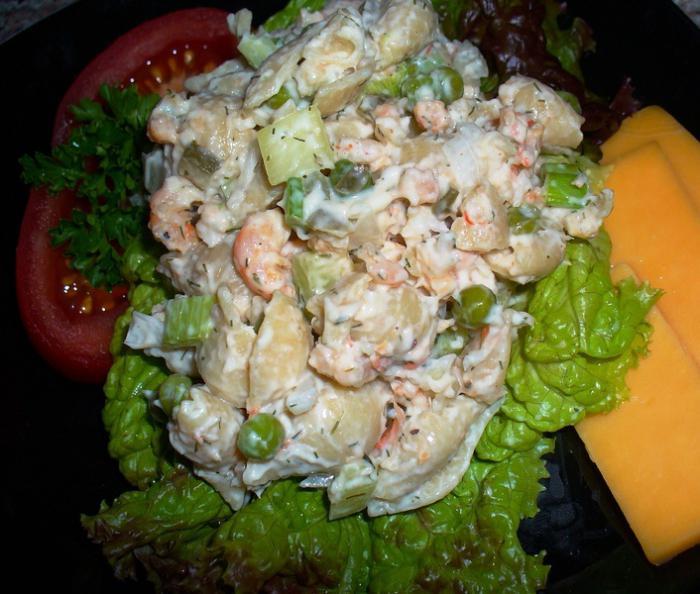 авокадо с салат с фото креветки