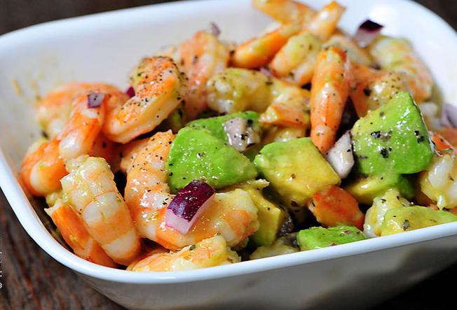 Салат с авокадо и креветками рецепт очень вкусный