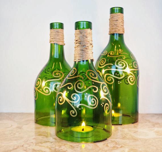 Что использовать для декупажа бутылок