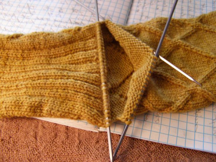 Вязание пятки способом бумеранг » Петля - вязание 18
