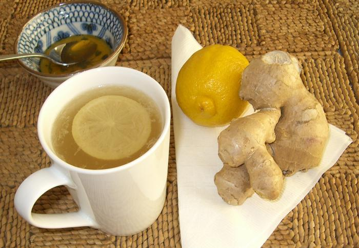 ginger with cold honey