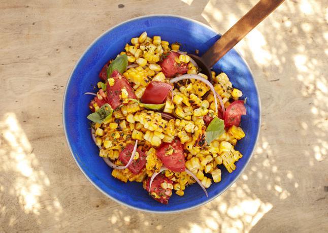 corn salad ham cucumber