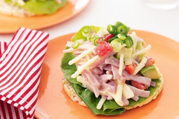 ham corn cheese salad