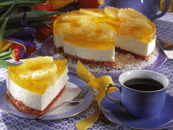 торт чернично творожный без выпечки