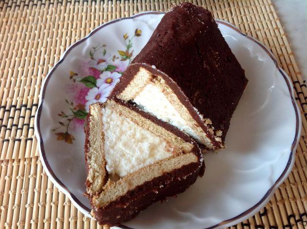 торт без выпечки творожный домик