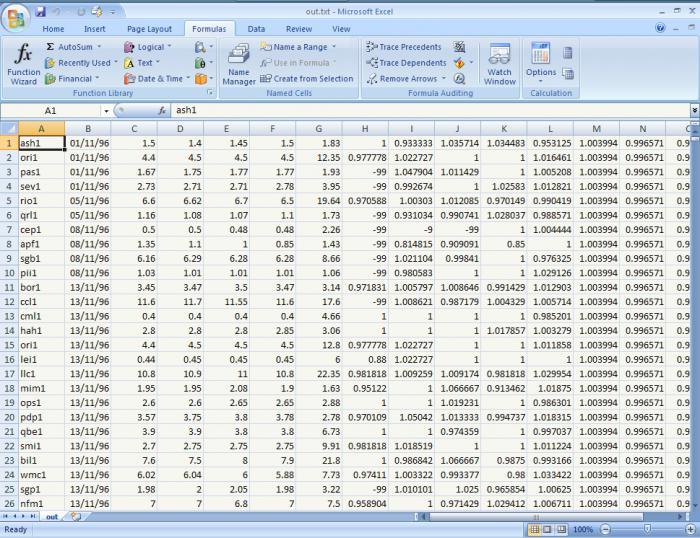 создание таблицы в excel