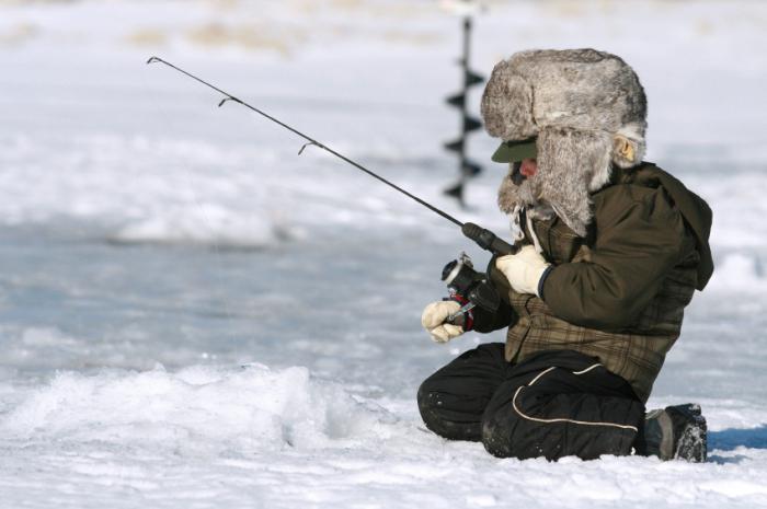Winter fishing equipment fishing rods