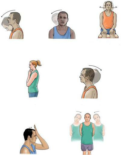 therapeutic exercise for cervical osteochondrosis in pictures
