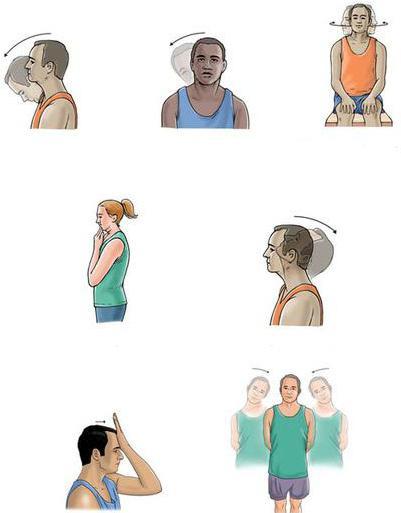 Упражнения сителя при шейном остеохондрозе