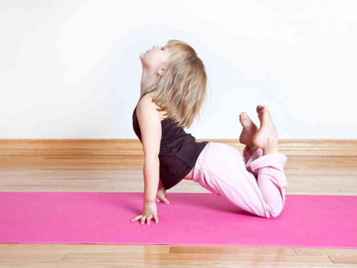 йога дома для начинающих детей