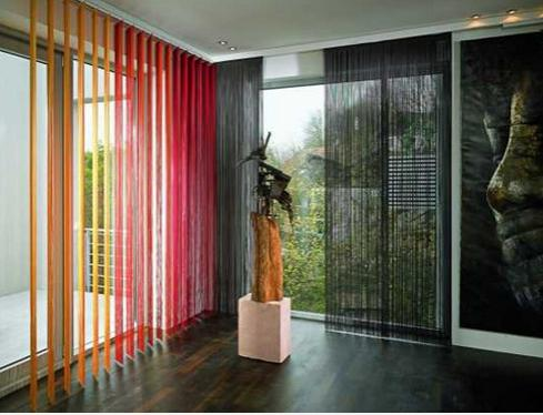 cotton curtains in the interior
