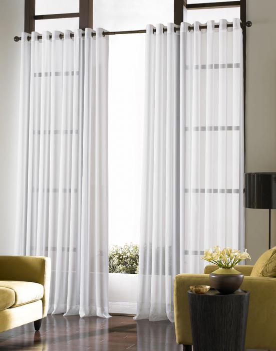 white curtains in the interior