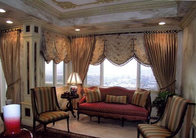 interior curtains in the living room photo