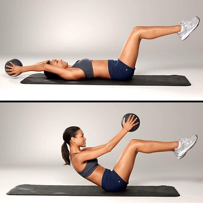 Как делать упражнения с медболом?