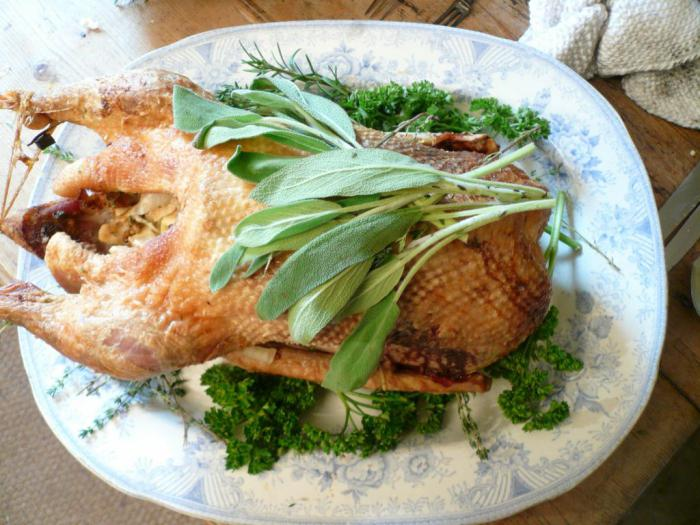 goose stuffed with rice