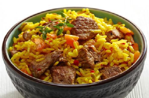 pilaf in beef crock-pot