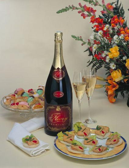 what snacks are served to champagne