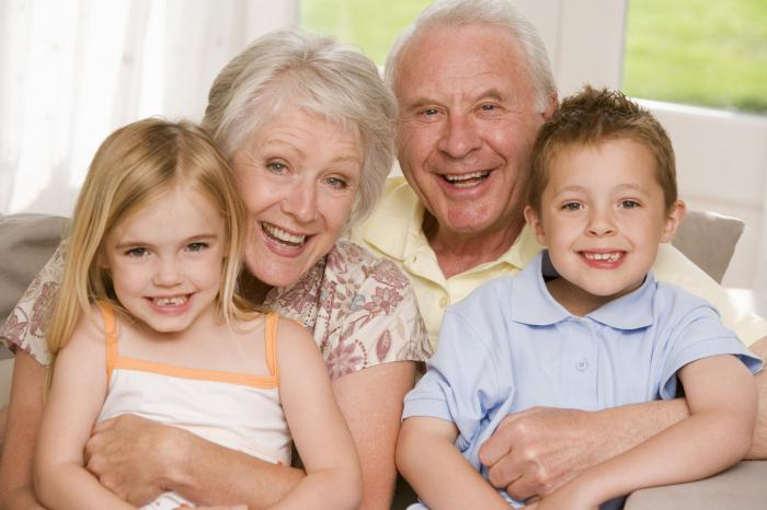 that you can give a grandmother and grandfather for the New Year