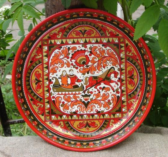 Permogorsk wood painting