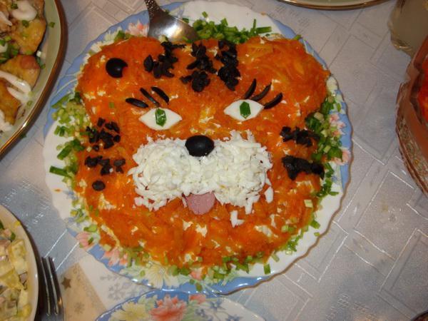 детский салат тигренок