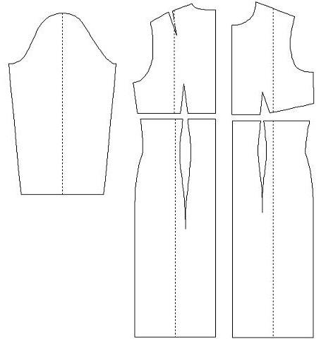 dress pattern with a high waist