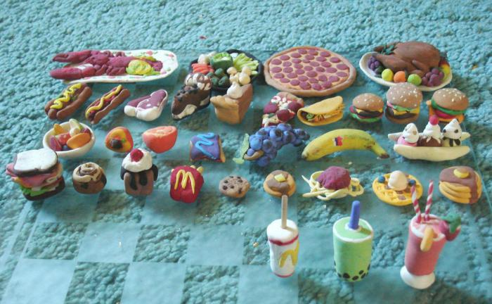 как сделать из пластилина еду фото