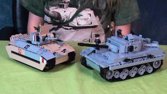 Смотреть видео как сделать из конструктора танки