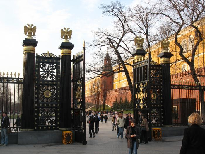 Aleksandrovsky garden monuments