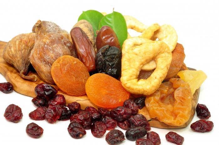 calorie dried fruit